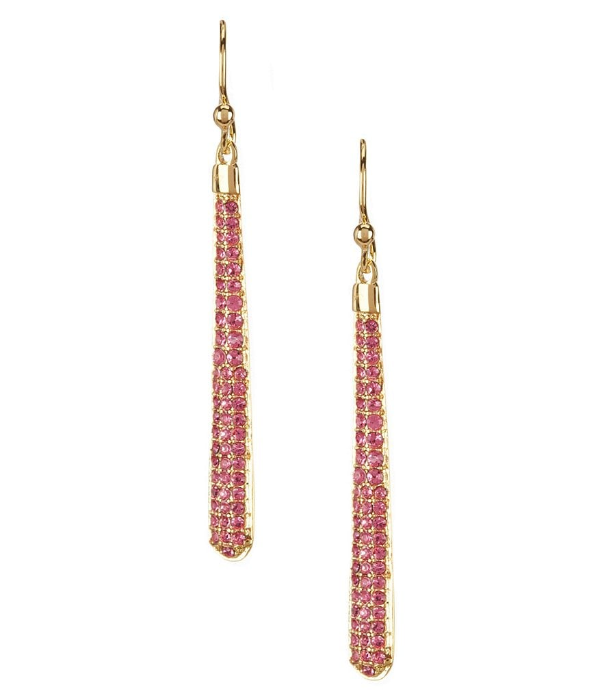 kate spade new york Shine On Pavé Linear Statement Earrings