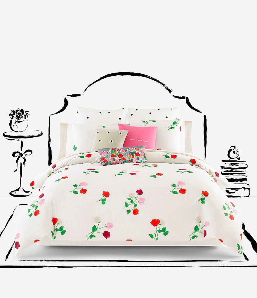 kate spade new york Willow Court Scattered Floral Twill Comforter Mini Set