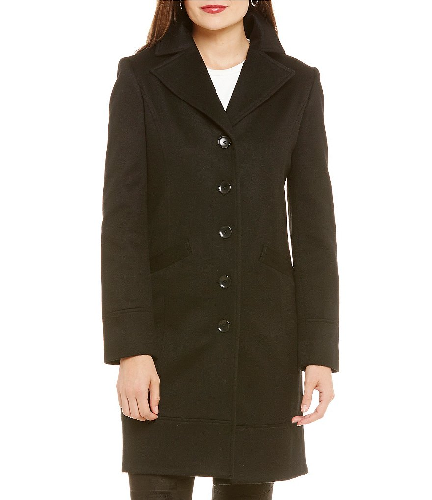 Katherine Kelly Single Breasted Notch Collar Cashmere Coat