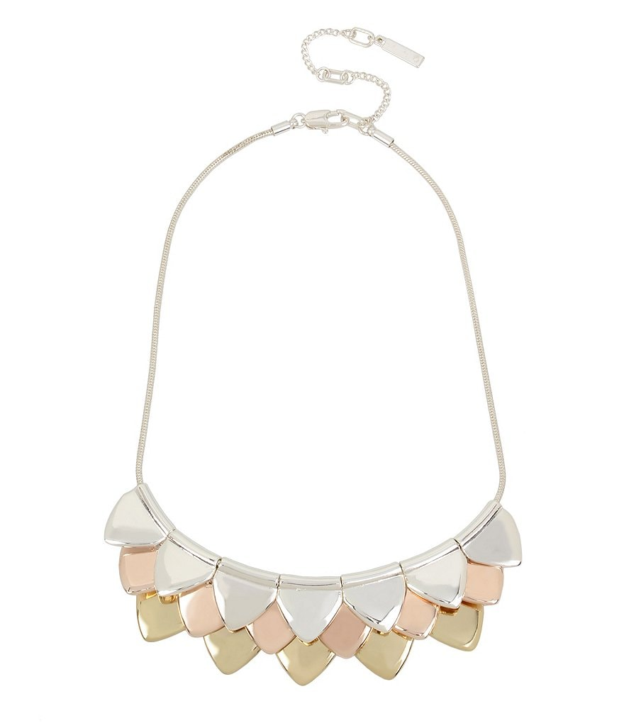 Kenneth Cole New York Triangle Scale Frontal Necklace