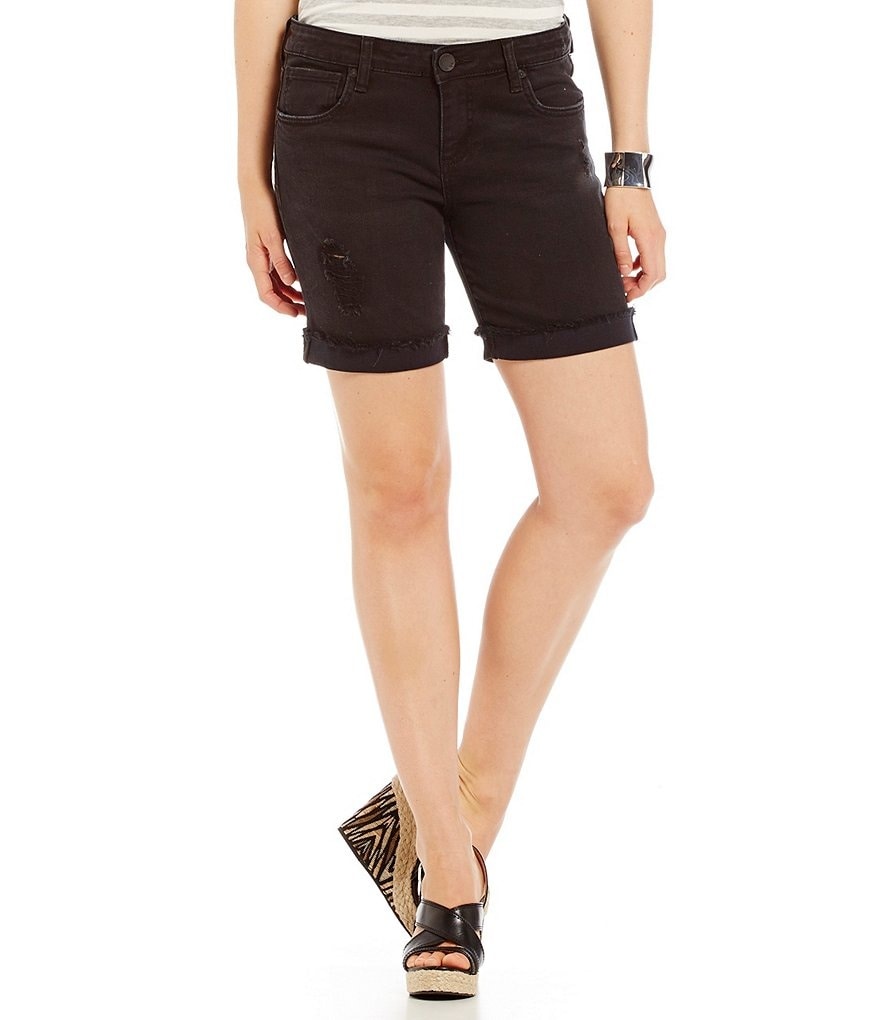 KUT from the Kloth Catherine Boyfriend Shorts with Destruction Detail