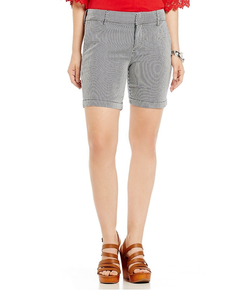 KUT from the Kloth Railroad Stripe Walking Shorts