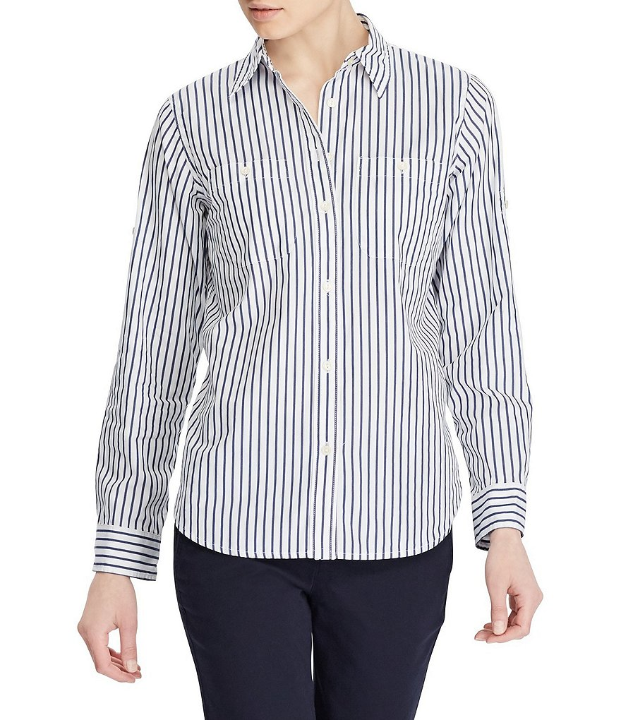 Lauren Jeans Co. Carter Roll Sleeve Shirt by Lauren Ralph Lauren