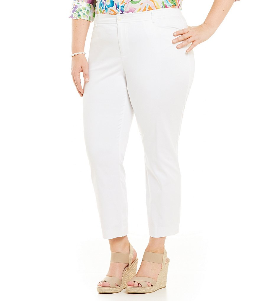 Lauren Ralph Lauren Plus Cotton Sateen Skinny Pant