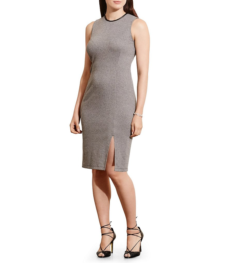 Lauren Ralph Lauren Plus Herringbone Sheath Dress