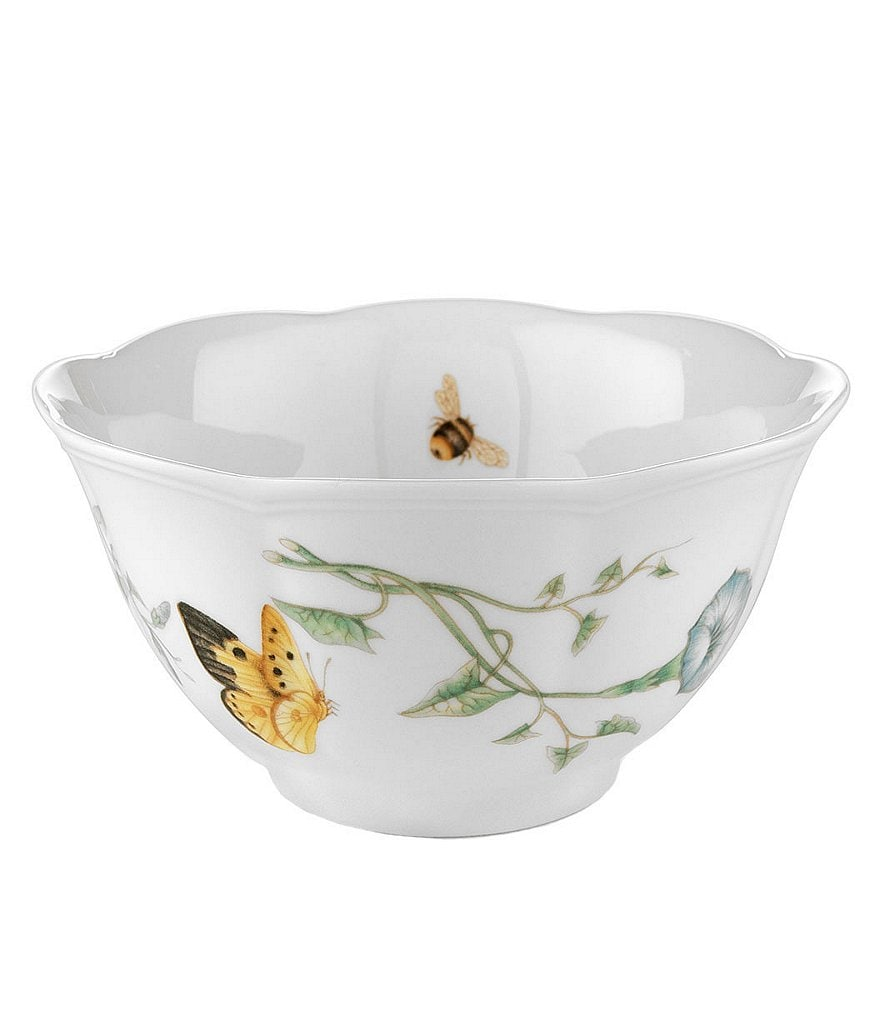 Lenox Butterfly Meadow Porcelain Rice Bowl