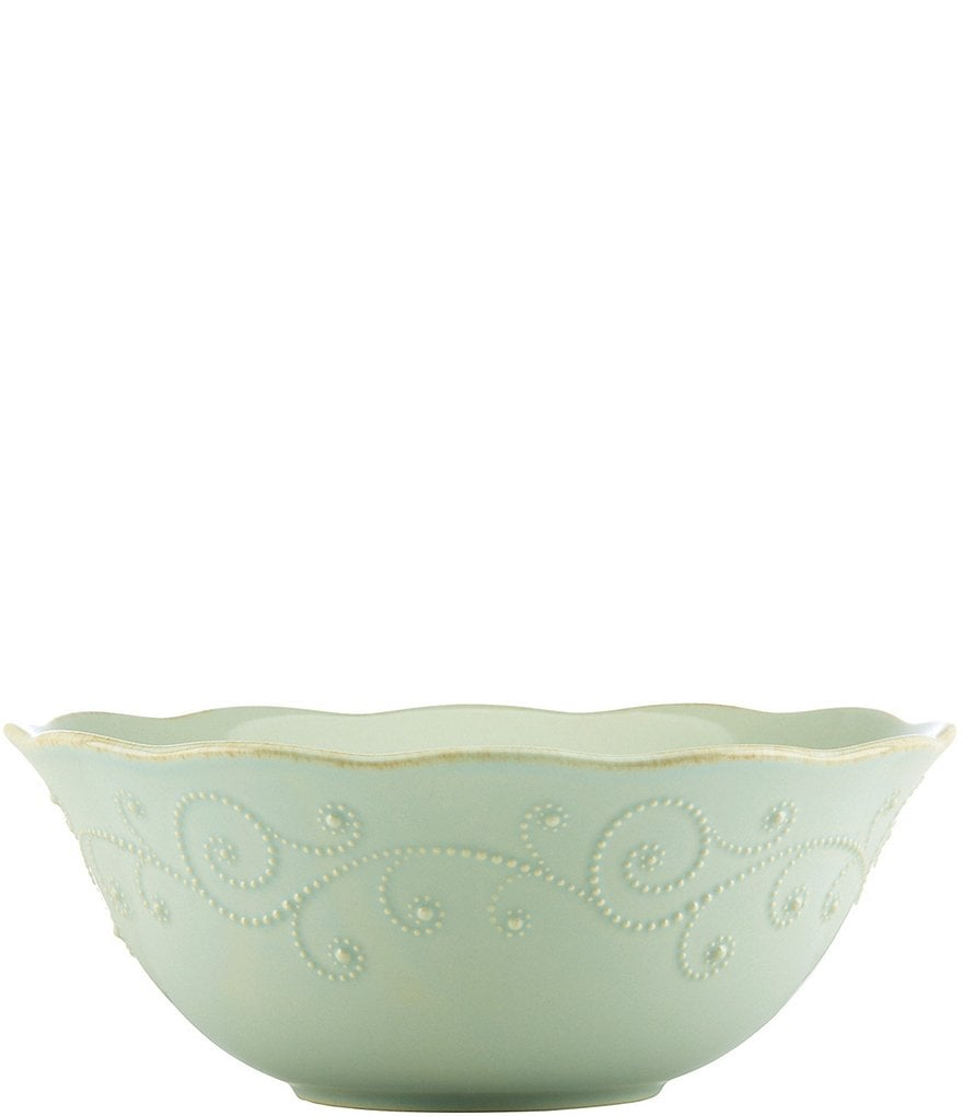 Lenox French Perle Scalloped Stoneware Serving Bowl