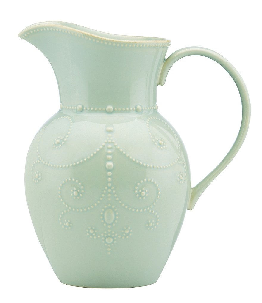 Lenox French Perle Scalloped Stoneware Pitcher