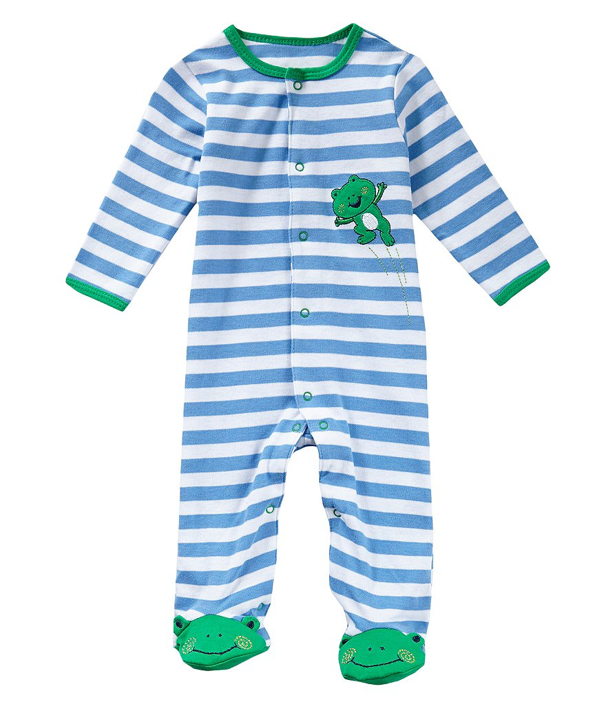 Little Me Baby Boys Preemie-9 Months Leap Frog Footed Coverall