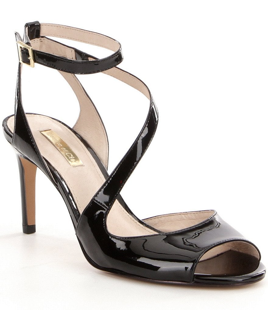 Louise Et Cie Kealy Patent Peep-Toe Ankle Strap Dress Sandals