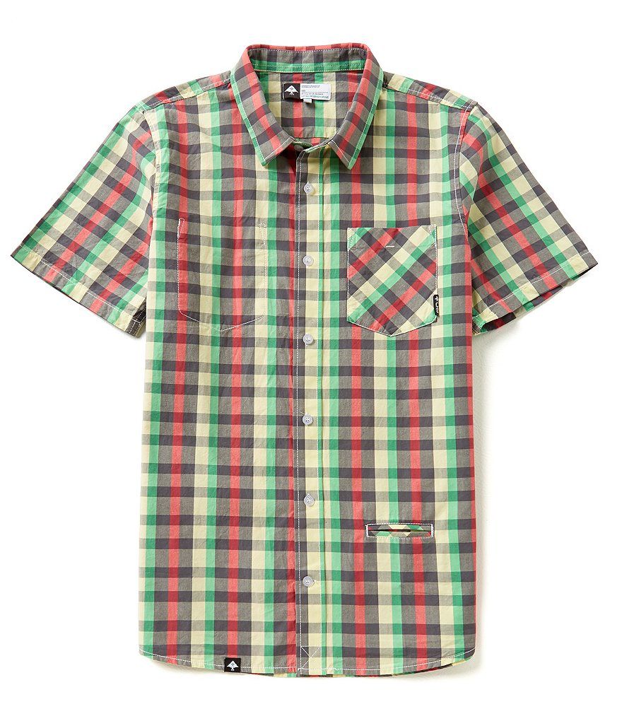 LRG Burt McGirt Short-Sleeve Plaid Sportshirt