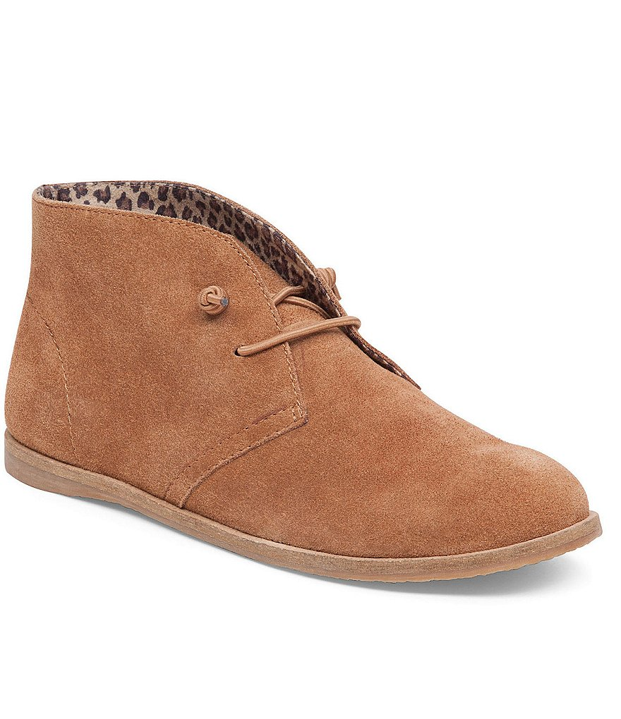 Lucky Brand Ashbee Suede Lace Up Booties