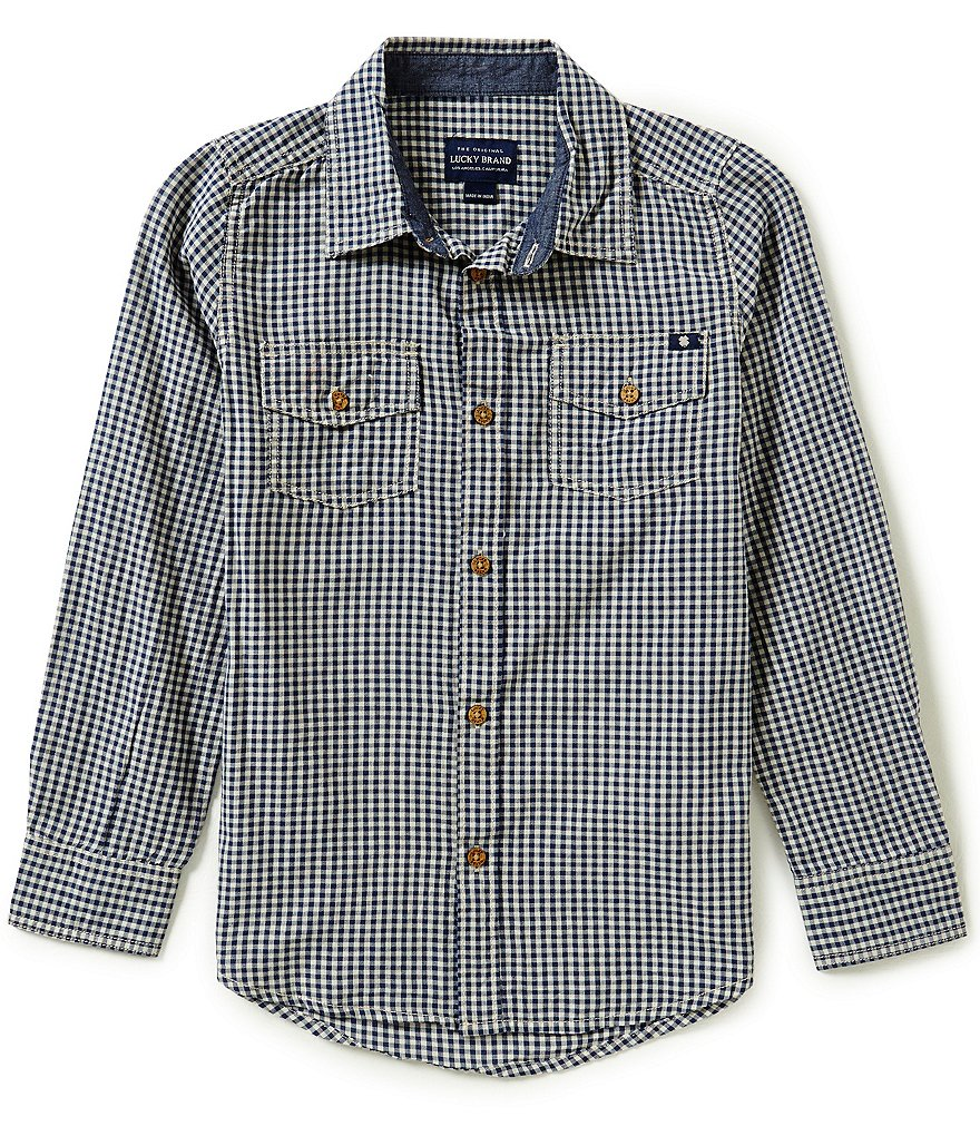 Lucky Brand Big Boys 8-20 Deer Lake Woven Shirt