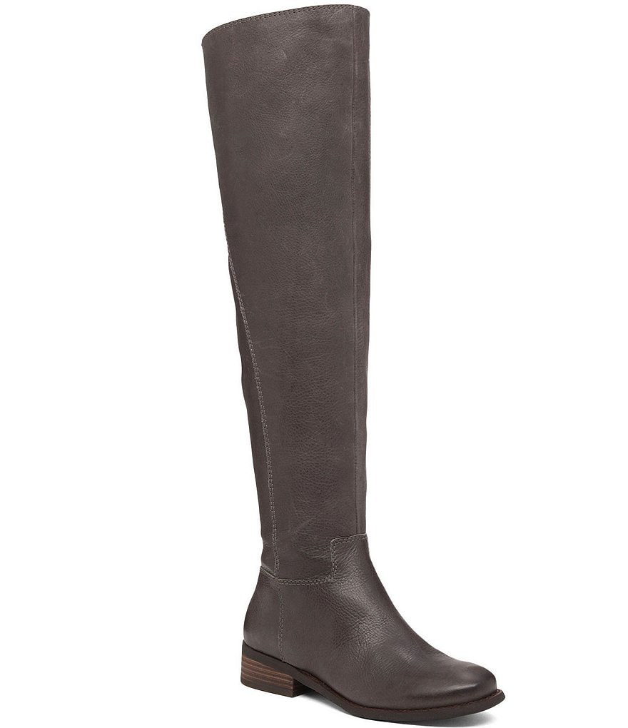 Lucky Brand Havasoo Sueded Leather Zip Over The Knee Boots