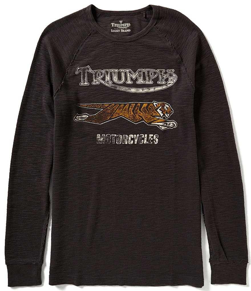 Lucky Brand Triumph Tiger Graphic Long-Sleeve Thermal Tee