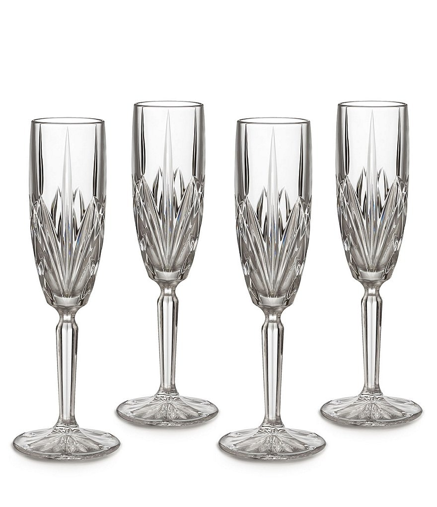 Marquis by Waterford Brookside Crystalline Flutes, Set of 4