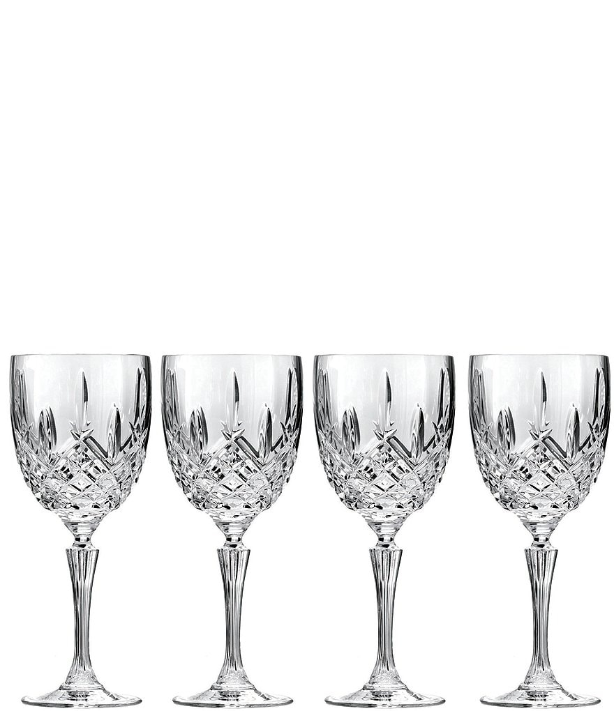 Marquis by Waterford Markham Traditional Crystal Goblets, Set of 4