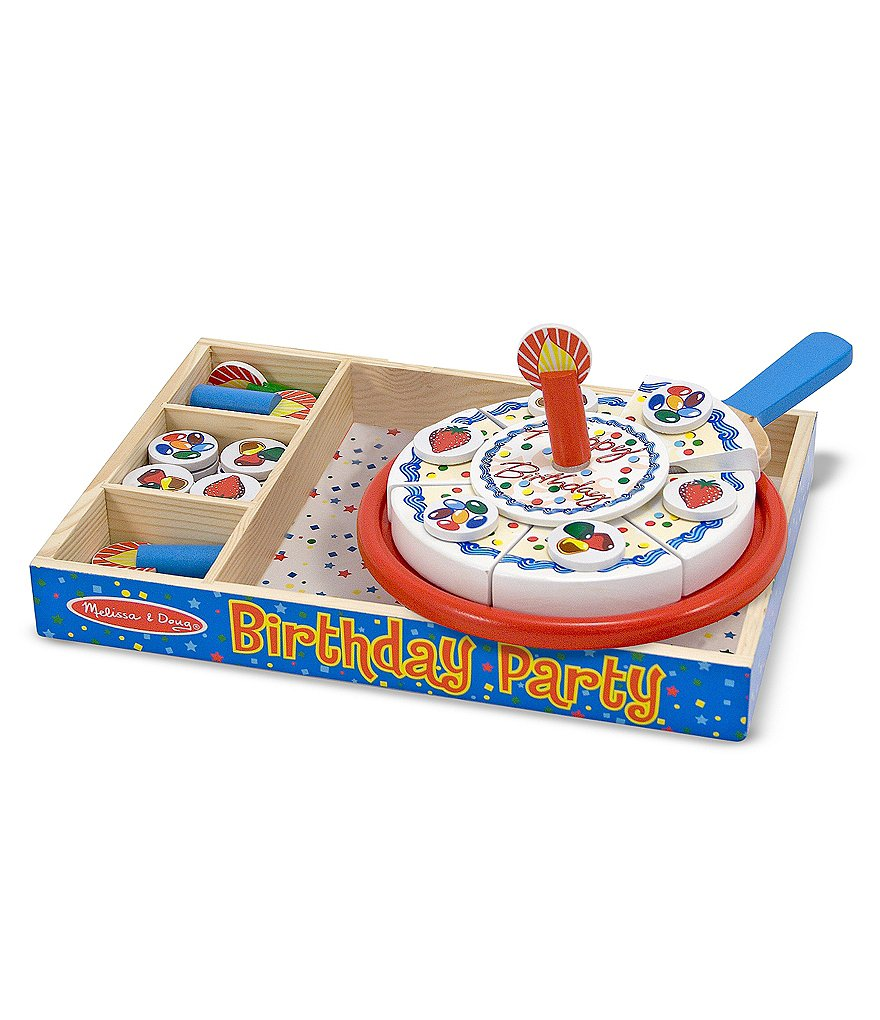 Melissa & Doug Birthday Party Wooden Play Food Set
