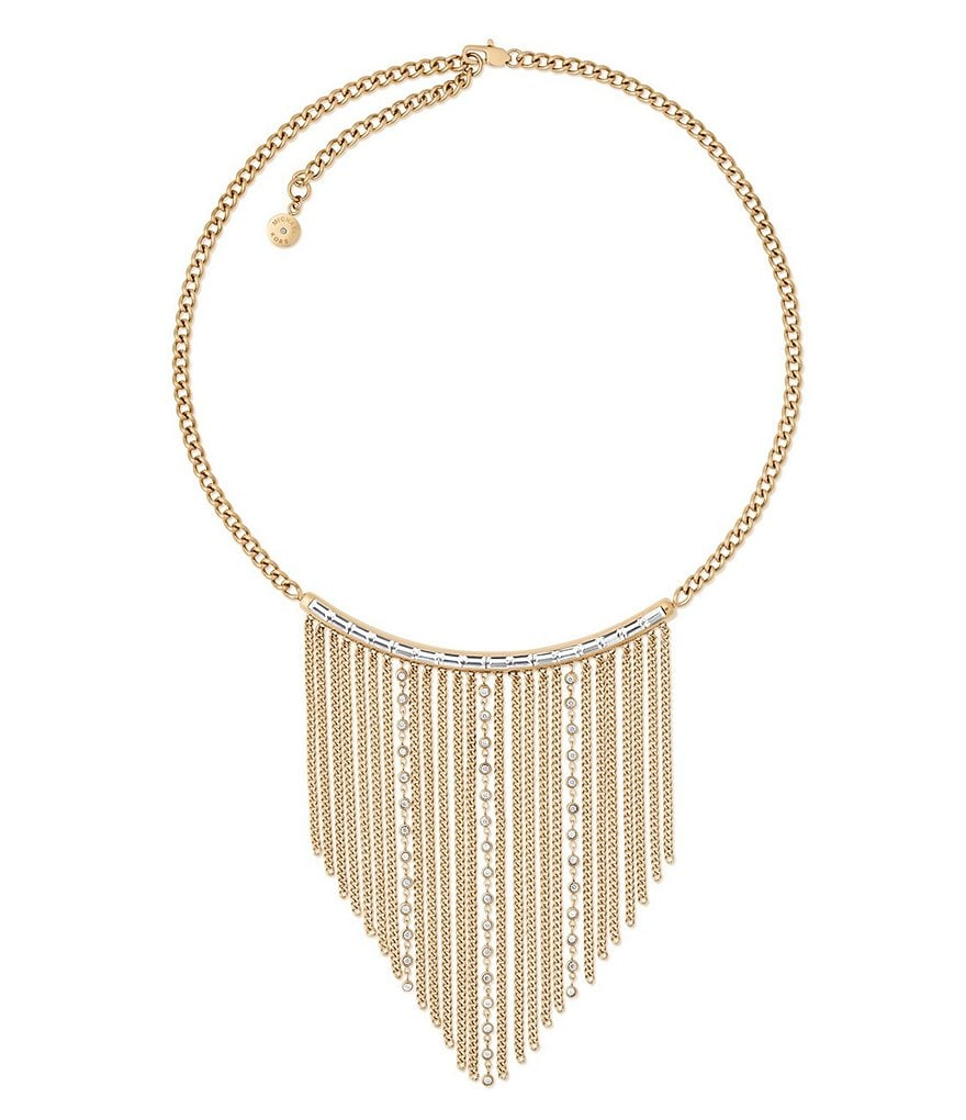 Michael Kors Black Tie Affair Fringe Statement Necklace