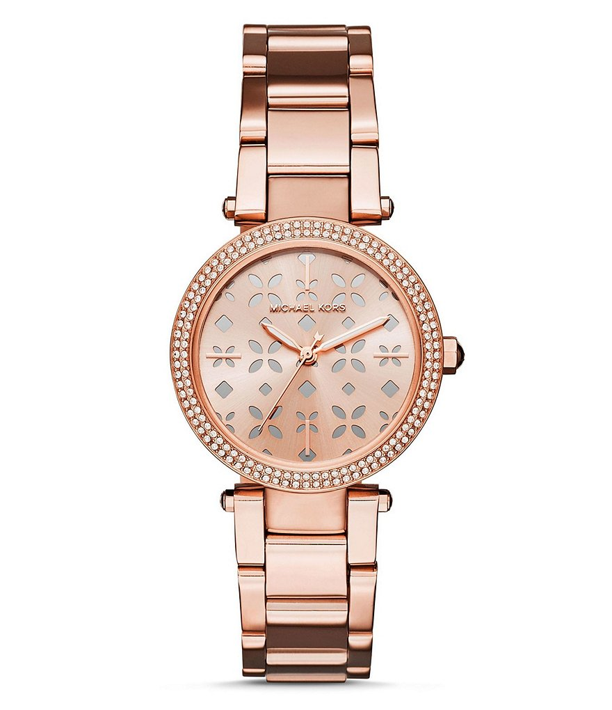 Michael Kors Mini Parker Analog Stainless Steel Bracelet Watch