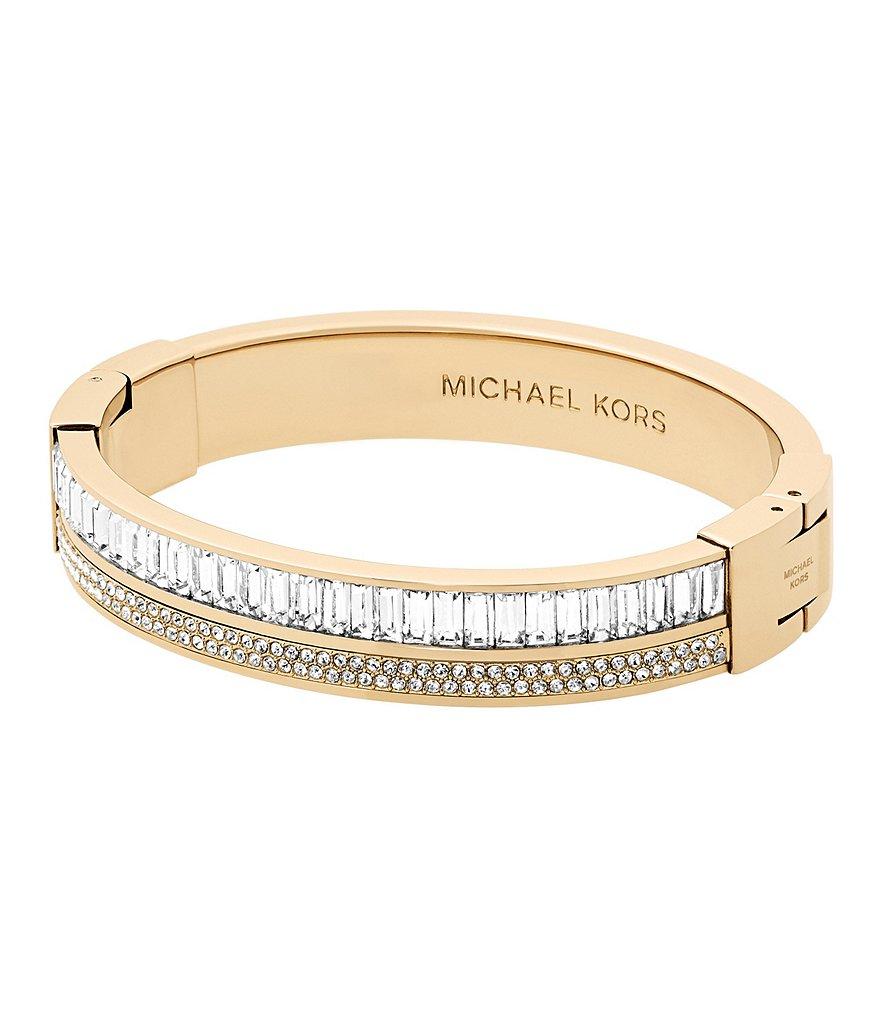 michael kors pav crystal hinge bangle bracelet dillards. Black Bedroom Furniture Sets. Home Design Ideas