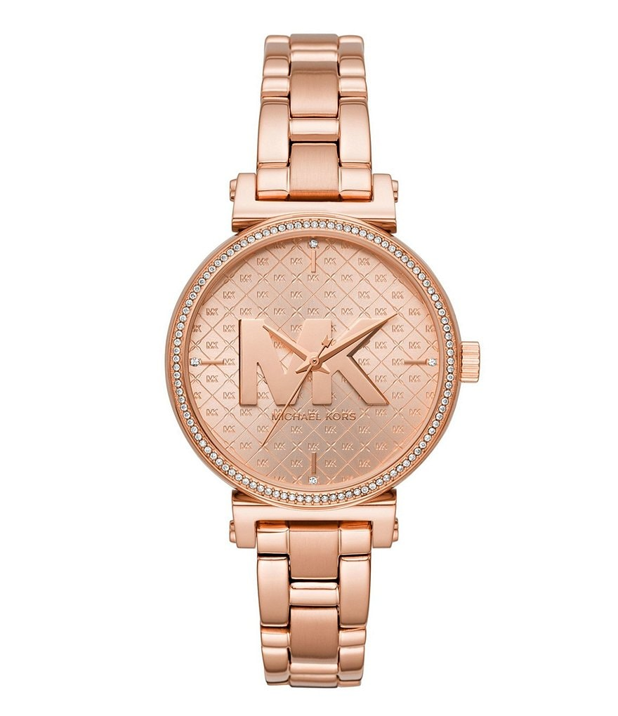 Michael Kors Women's Sofie Three-Hand Rose Gold-Tone Stainless Steel Watch