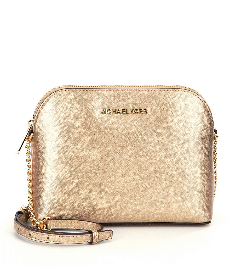 Michael Kors Cindy Laukku : Michael kors cindy metallic dome cross body bag