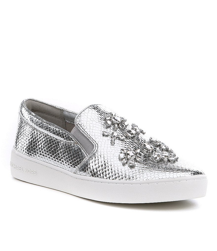 MICHAEL Michael Kors Keaton Slip-On Embellished Sneakers