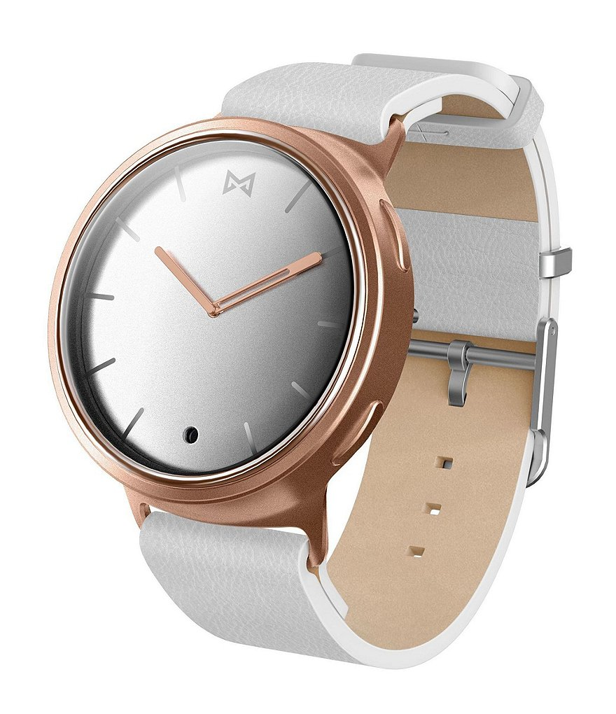MisFit Phase Leather-Strap Hybrid Smart Watch