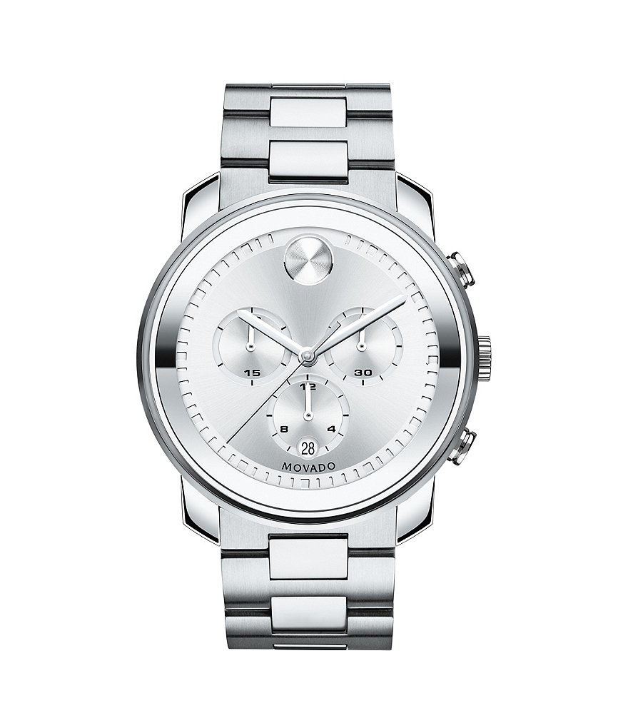 Movado Bold Stainless Steel Chronograph Watch