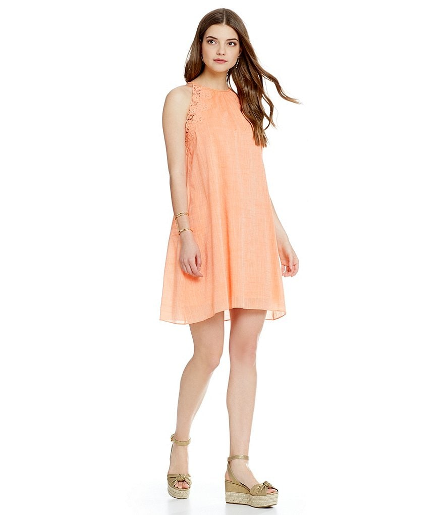 M.S.S.P. Cross Dye Voile Sleeveless Dress