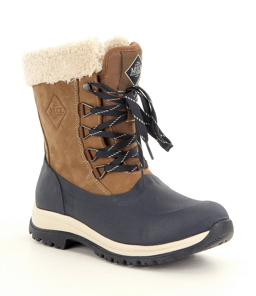 Muck Arctic Apres Lace Faux Fur Lined Waterproof Winter Boots