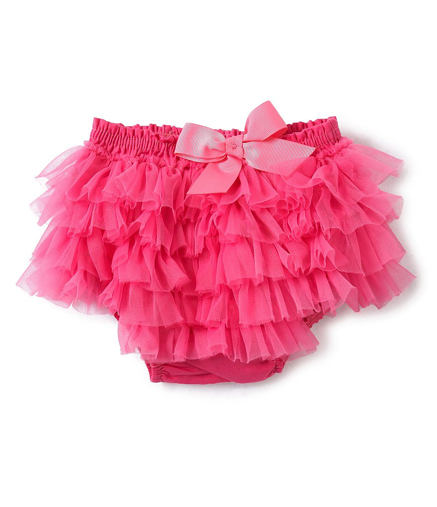 Mud Pie Baby Girls Ruffled Mesh Diaper Cover