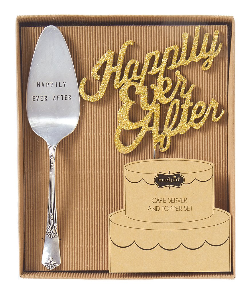 Mud Pie Wedding Collection Happily Ever After Cake Set