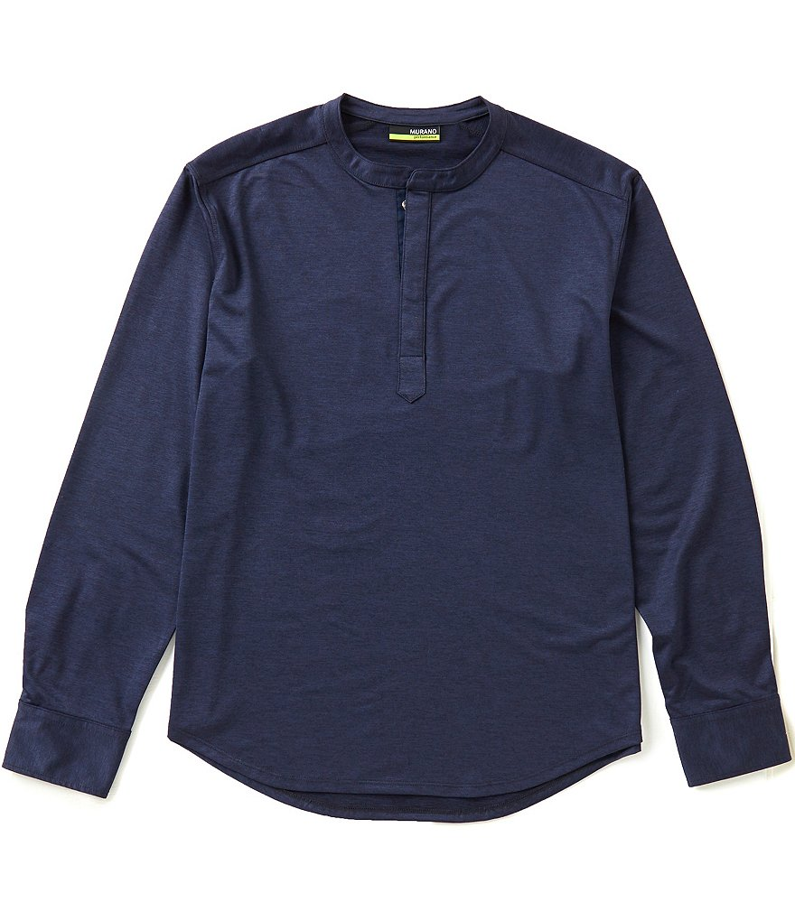 Murano Long-Sleeve Performance Knit Easy Care Henley