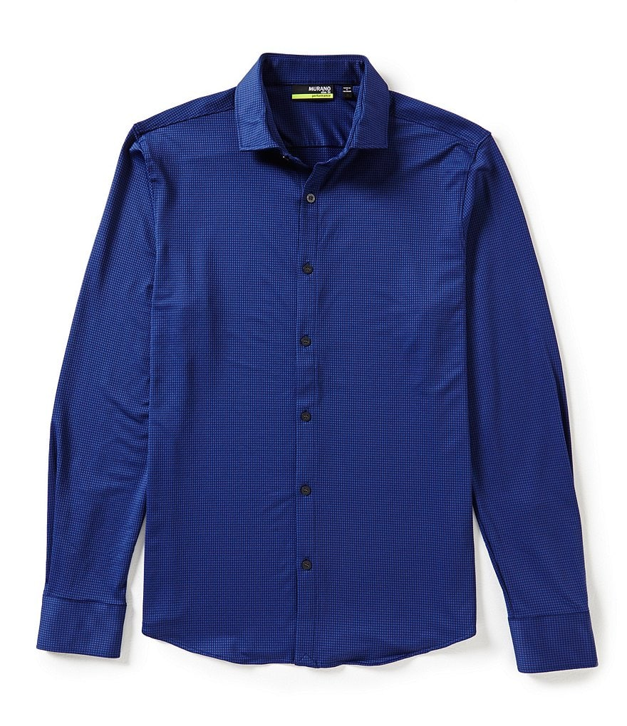Murano Long-Sleeve Slim-Fit Performance Sportshirt