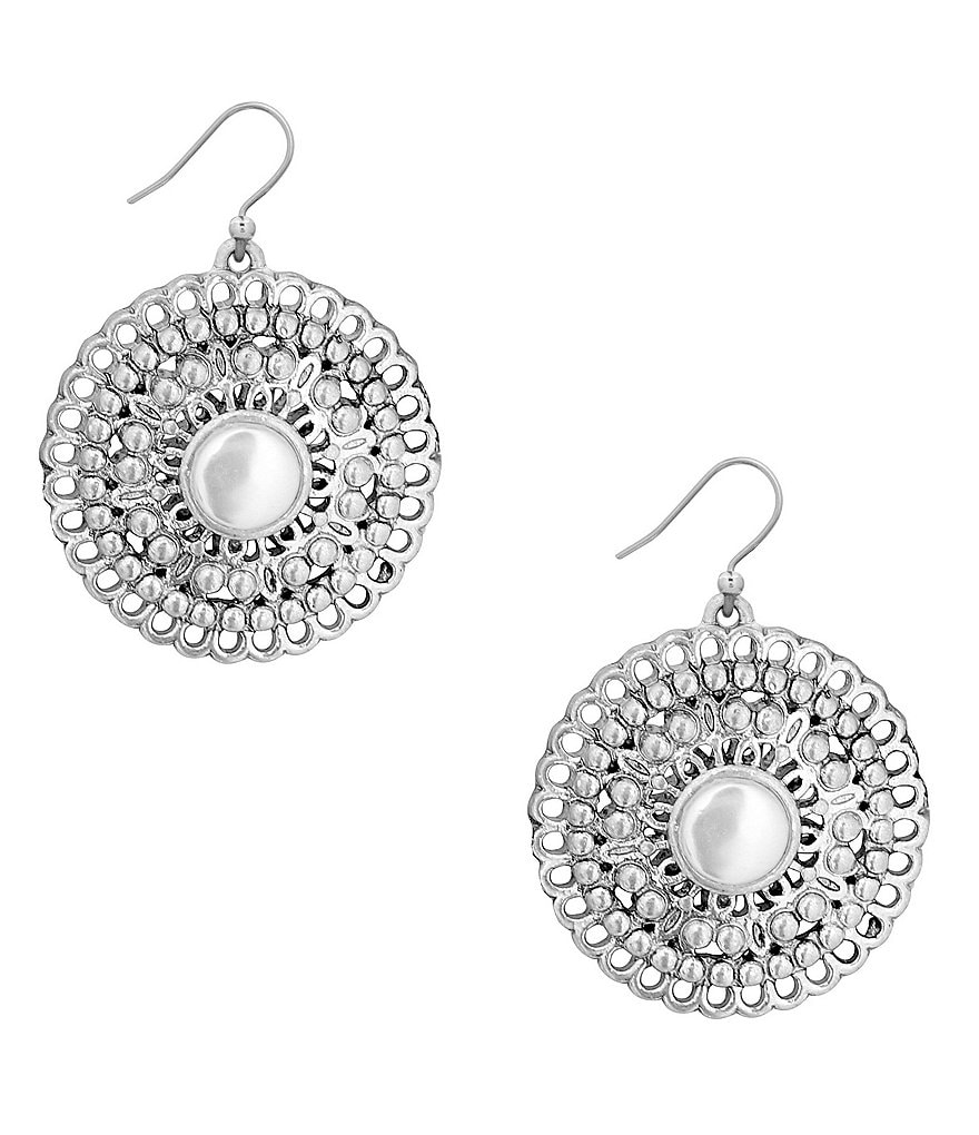 Lucky Brand Openwork Circle Drop Earrings