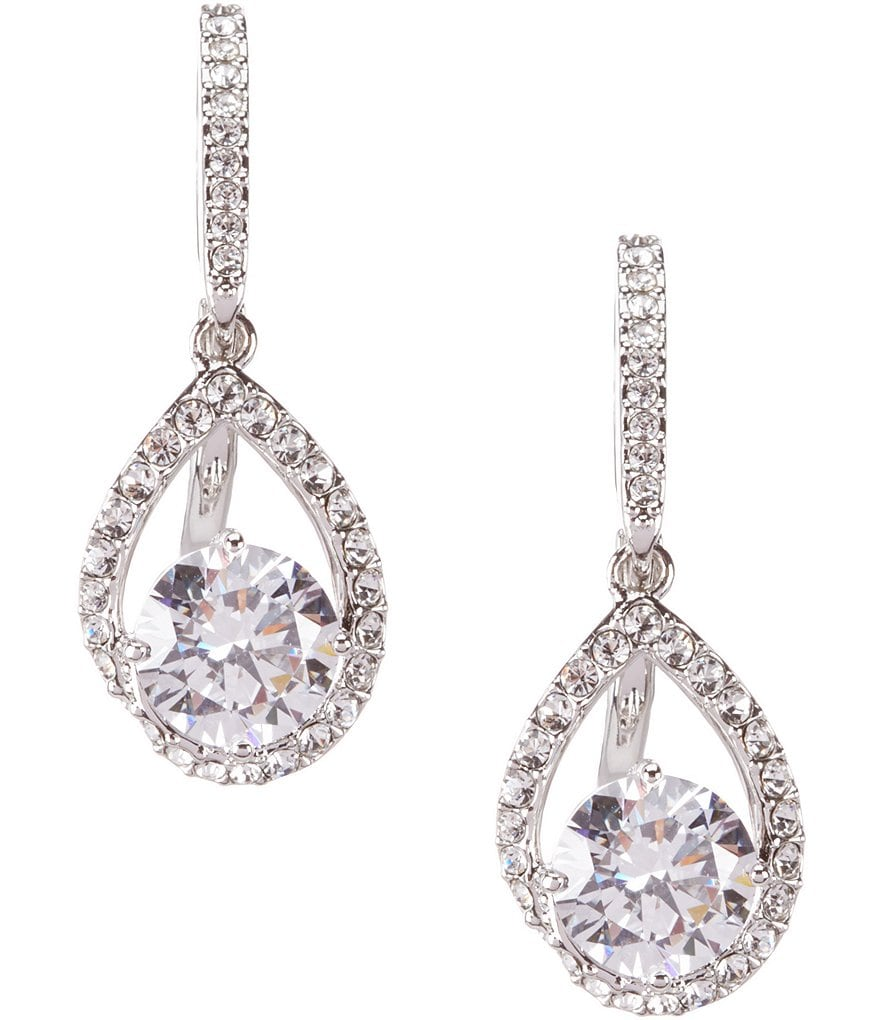 Nadri Cubic Zirconia Pavé Drop Statement Earrings