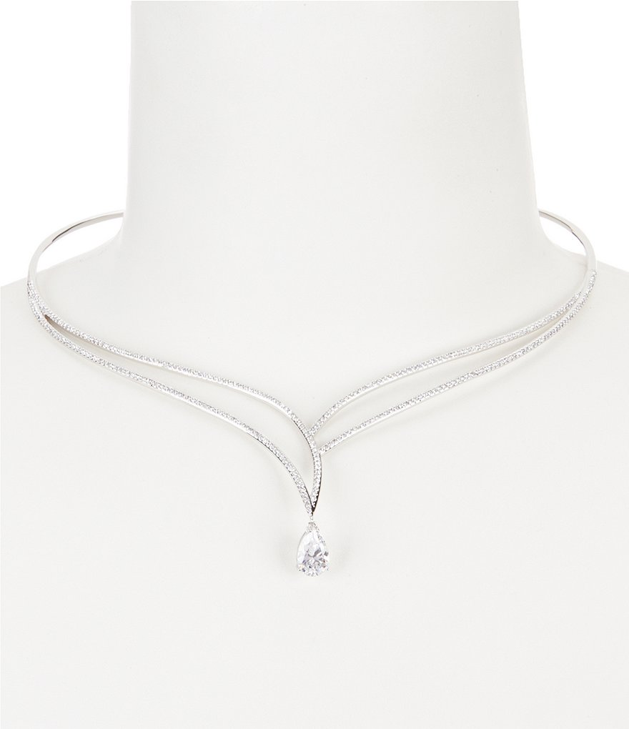 Nadri Heather Cubic Zirconia Collar Necklace