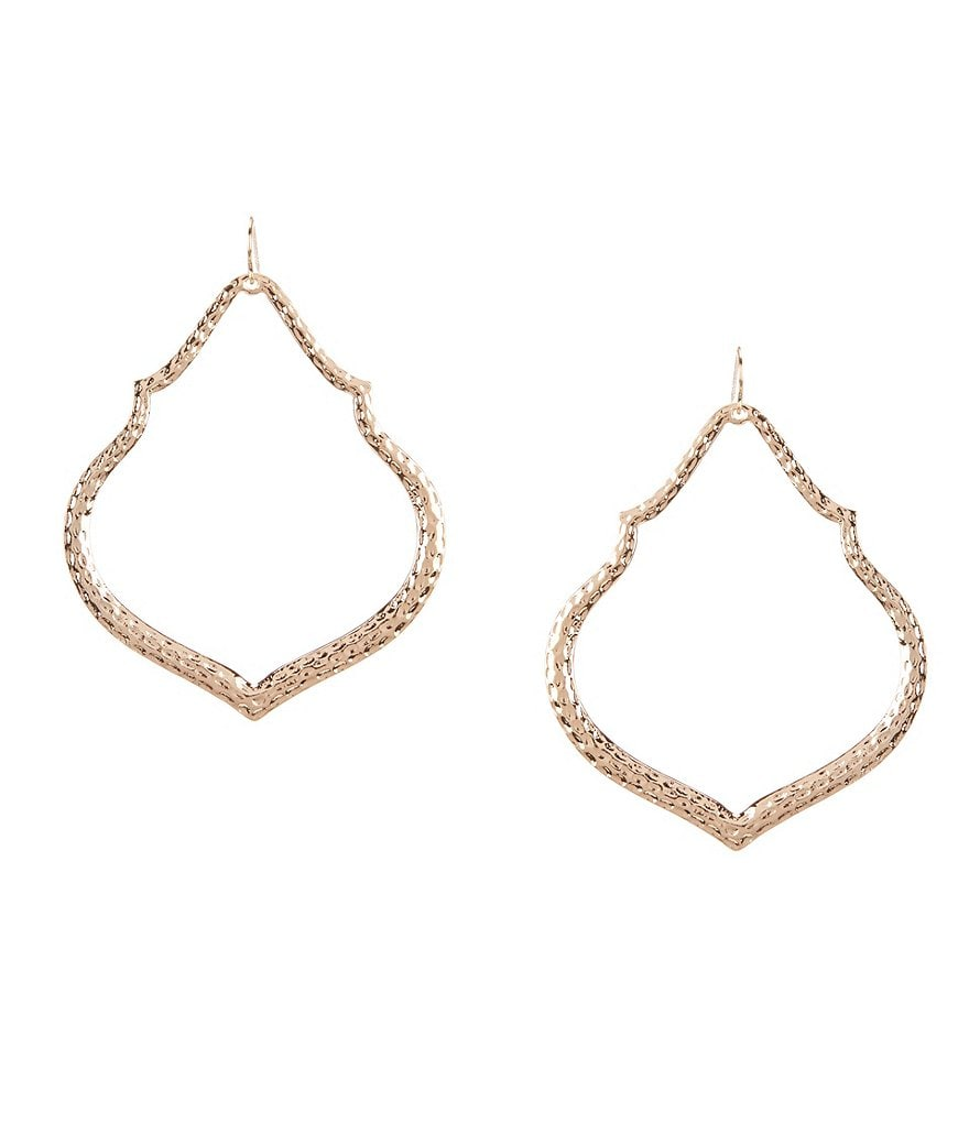 Natasha Accessories Hammered Marakesh Drop Earrings