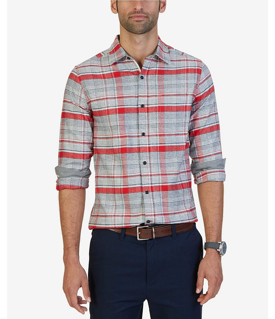 Nautica Ablaze Plaid Slim-Fit Oxford Shirt