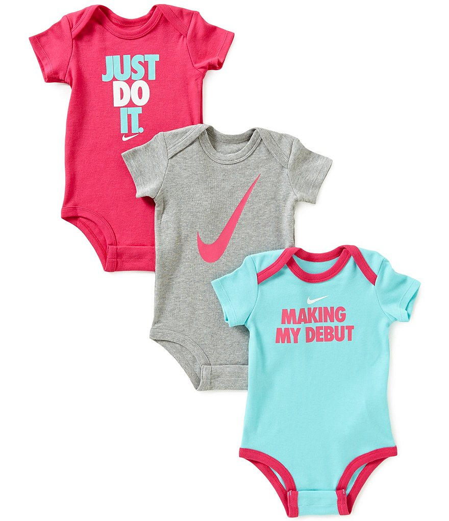Nike Baby Girls Newborn-12 Months Making My Debut 3-Pack Bodysuits