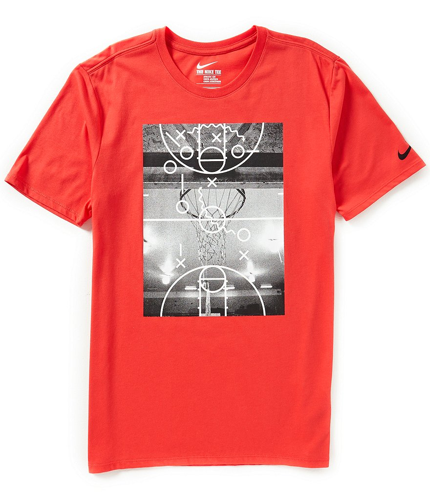 Nike Court Plays Basketball Crewneck Graphic Tee