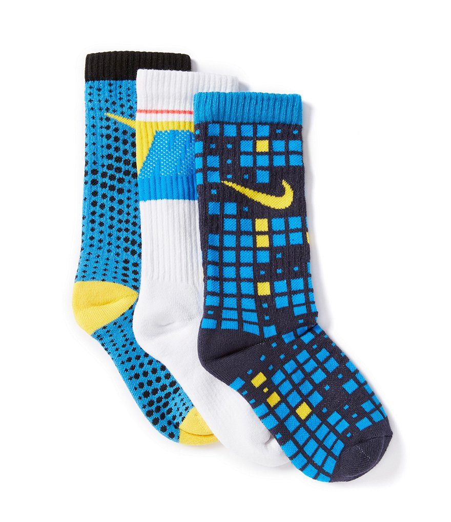 Nike Little Boys Graphic Crew Socks 3-Pack