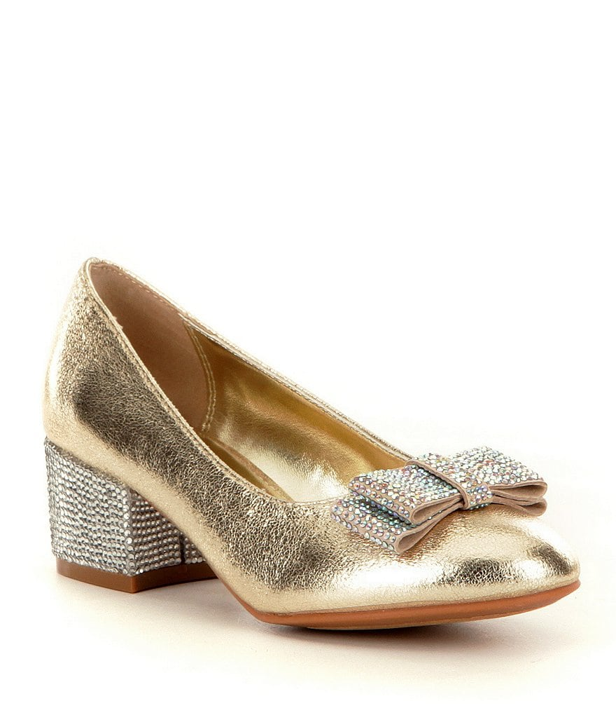 Nina Girls' Gisel Glitter Bow Dress Shoes