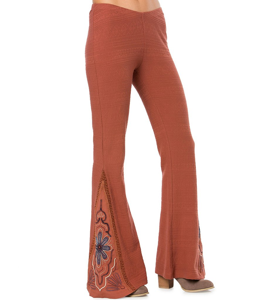 O´Neill Lighthouse Embroidered Flare Palazzo Pants