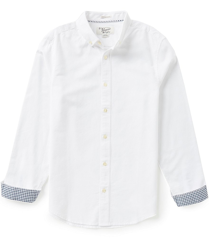 Original Penguin New Oxford Long-Sleeve Woven Shirt