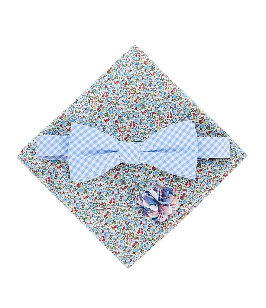 Original Penguin Sirena Check Bow-Tie, Floral Pocket ...