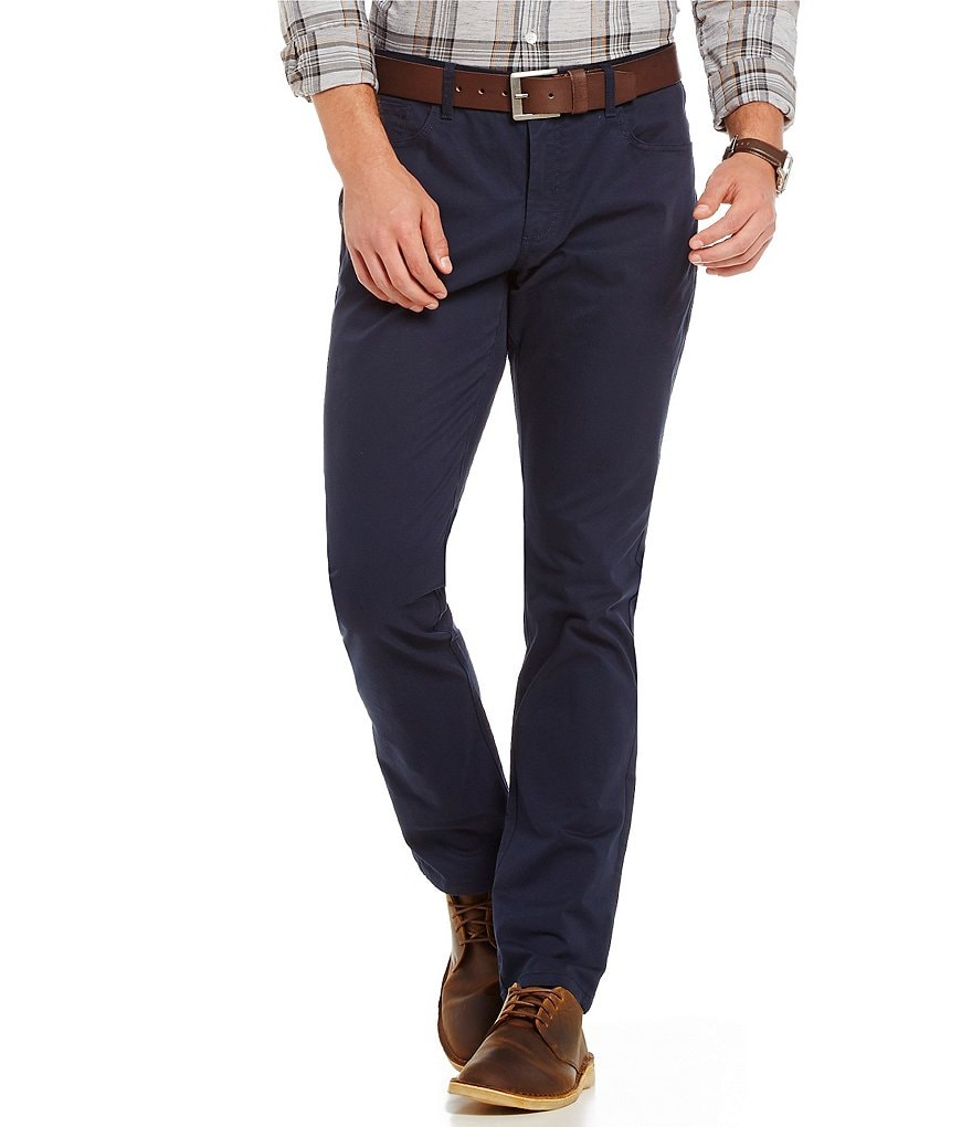 Original Penguin Slim-Fit Flat-Front Stretch 5-Pocket Chino Pants