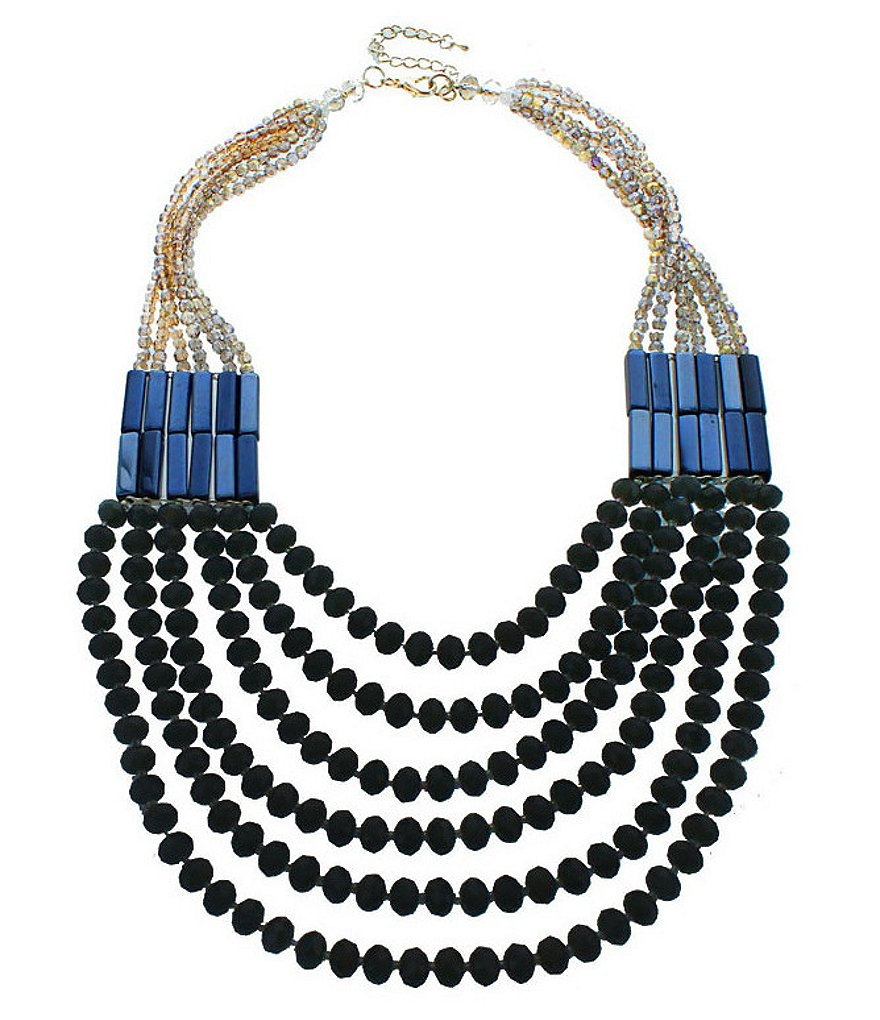 Panacea Crystal Strand Statement Necklace